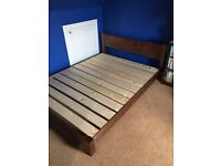 KING SIZE, HANDMADE, LOW ORIENTAL WOODEN FRAME BY 'GETLAIDBEDS'