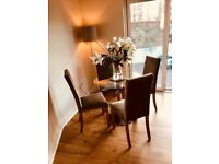 Marks & Spencer Glass Dining Table & Four Chairs