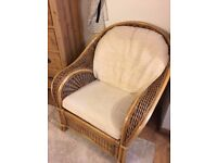 Wicker furniture set indoor/outdoor 1 sofa + 2 chairs
