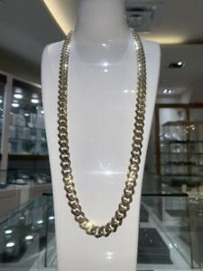 Brand New 10k Yellow Gold Miami Cuban Link Chain 30 inches 11.2 mm 47.5gr