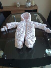 Baby Girl Snow suit /Coat with detachable mits