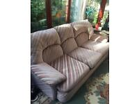 2 seater and 3 seater settee FREE