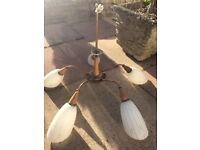 Retro 1970s wall lights and ceiling lights