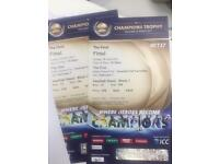 2X Gold tickets India Pakistan ICC champions trophy final