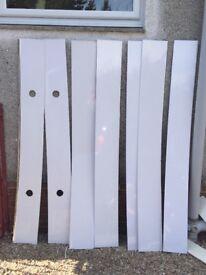 White pvc/wetwall bathroom ceiling panels