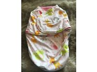 Girls new born fleece swaddle blanket
