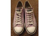 Unisex Pink converse size uk9