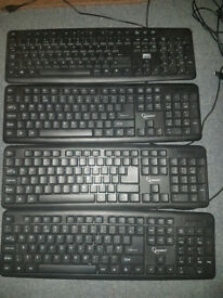 4 Black Basic Keyboards for sale