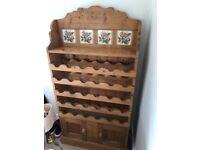 Original Antique Pine Wine Cabinet