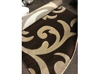 Chocolate Brown & Beige Hand crafted Rug (Brand New) - Size 160cm x 230cm