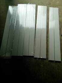 White bathroom ceiling panels