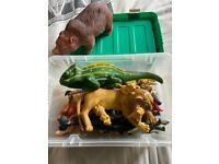 Toy animals/creatures/lions ,bears full box