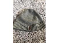 Grey Ralph Lauren wooly hat beenie