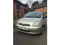 Toyota Yaris with very low mileage, automatic, full year MOT, aircon, FSH