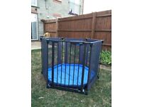 Lindam 3-in-1 Fabric Playpen/Room Divider and Baby Safety Gate
