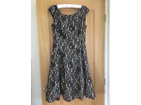 Size 12 Phase 8 cocktail/party dress black and champagne lace , worn once..