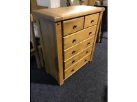 Heavy solid OAK chest-New