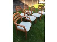 Six drylund teak dining chairs £250