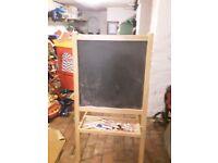 Child Artist easel and blackboard