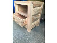 Solid wood bedside new