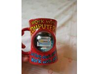 Novelty ' I work with Computers' mug. As new.