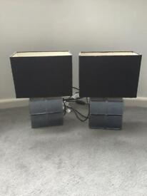Pair of table/bedside lamps