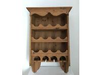 Pine Wooden Wine Rack