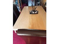 Large marble table and 6 Chairs