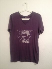 T-Shirt James Dean artwork M purple