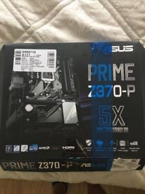 ASUS Prime Z370- P Intel LGA-1151 ATX motherboard with LED lighting, DDR4 4000MHz