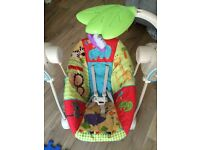 Fisher Price Luv U Zoo Space Saver Swing And Seat