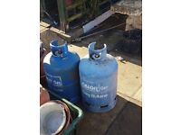 Two 15kg Blue Calor Gax bottles