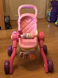 Vtech little love 3 - in - 1 push chair baby included