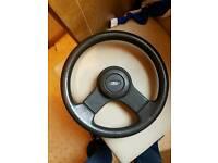 Xr3i steering wheel 2 piece very rare classic