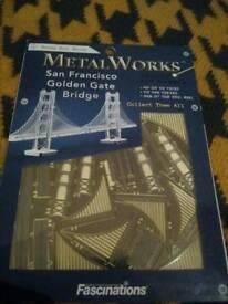 Metalworks metal San Francisco Golden Gate bridge miniature model