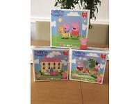 3 Peppa Pig mini puzzles