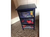 Spider-Man drawers, storage