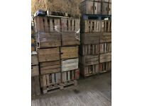 OLD ANTIQUE APPLE BOXES FOR SALE - DECORATIVE IDEAL FOR WEDDINGS