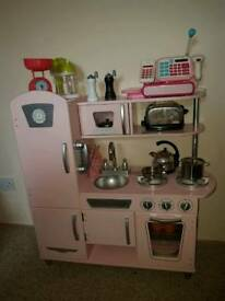 Kids Kidcraft pink vintage kitchen