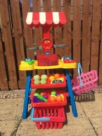 Children's toy fruit and veg shop