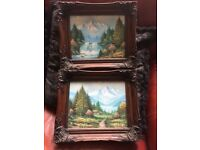 Original signed pair of W.Chapman oil paintings