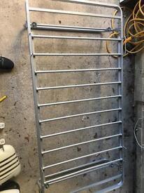 Single metal bed frame - slides under bed folds down