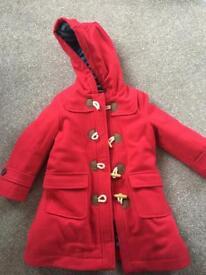 Red 3-4 Boden Coat