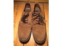 Brown faux suede men's shoes size 9 &1/2