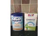 Aptamil comfort Hipp Organic baby milks