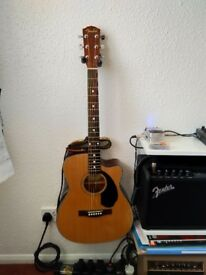 Brand new & un used electro acoustic Fender Guitar and amp.