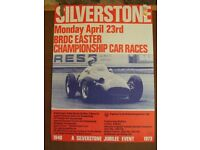 Silverstone Motor Racing Posters. Genuine, original posters from the 1973 season. Large collection