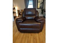 Leather Recliner 3 Seater Sofa and Armchair Set
