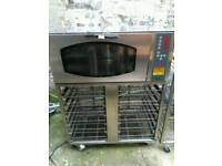 commercial bakery oven with full trays