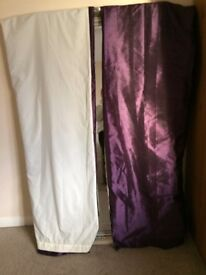 Curtains one pair with tie backs